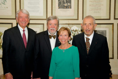 Robert K Montgomery with Honorees—Robert Emmons, Bitsy Bacon, Andre Saltoun