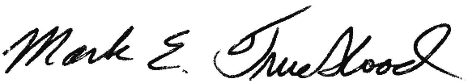 mark e trueblood signature