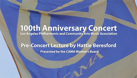 100th anniversary concert pre-lecture with Hattie Beresford
