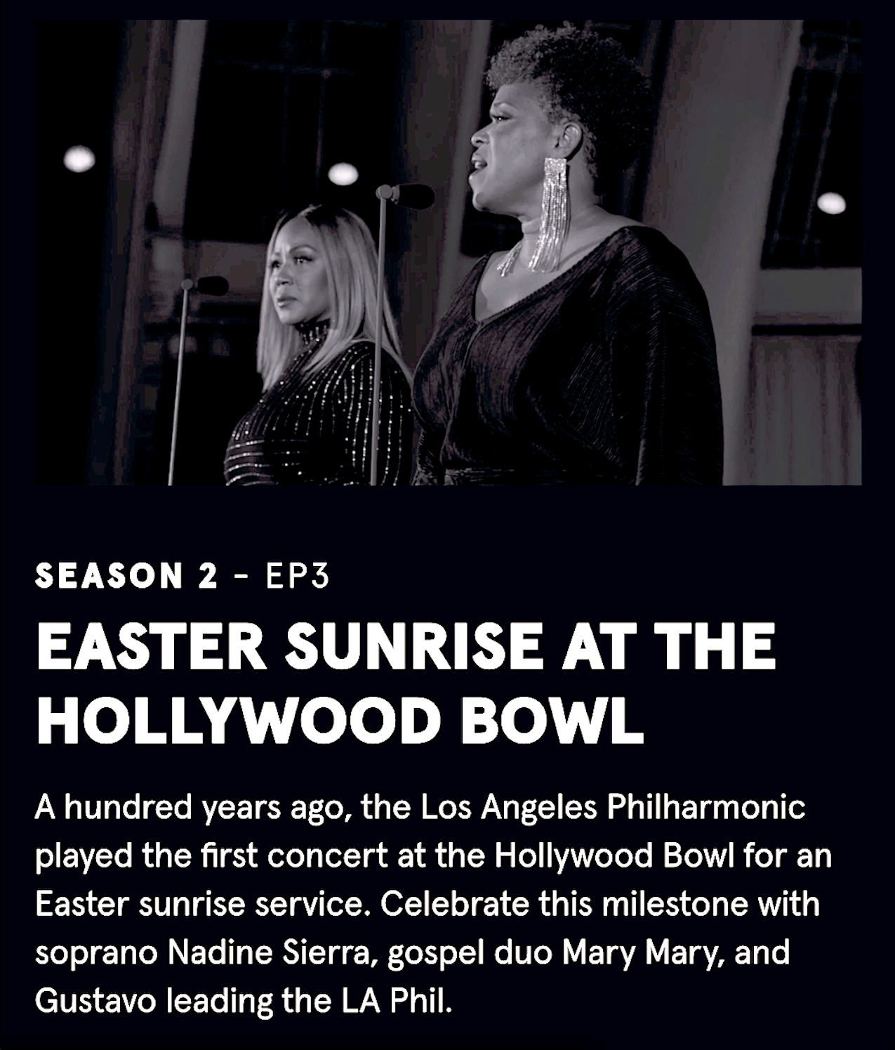 LA Phil SOUND/STAGE Season 2 Episode 3 — Easter Sunrise at the Hollywood Bowl